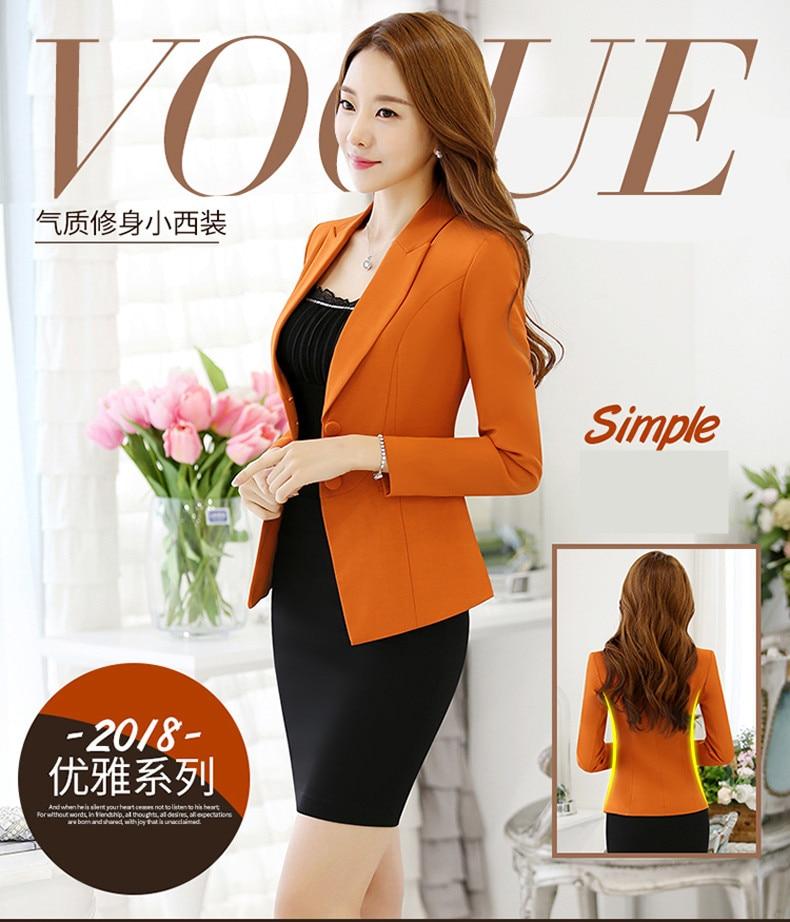 2a4f3c99c18 Fashion female jacket spring autumn 2018 new long sleeve Slim casual ...