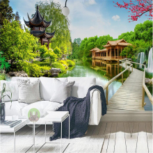 Custom photo wallpaper wall murals wall stickers water production landscape landscape landscape painting living room TV backdrop flower dance 3d acrylic wall stickers living room bedroom tv backdrop creative wall decoration hot sale