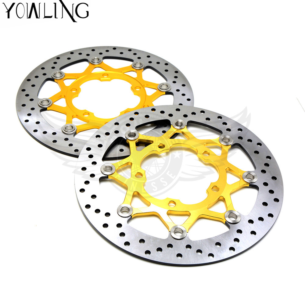 2 piece motorcycle Accessories parts Brake Rotors Front Brake Discs Rotor For Suzuki M1800R 2006 2007 2008 2009 motorcycle parts black brake