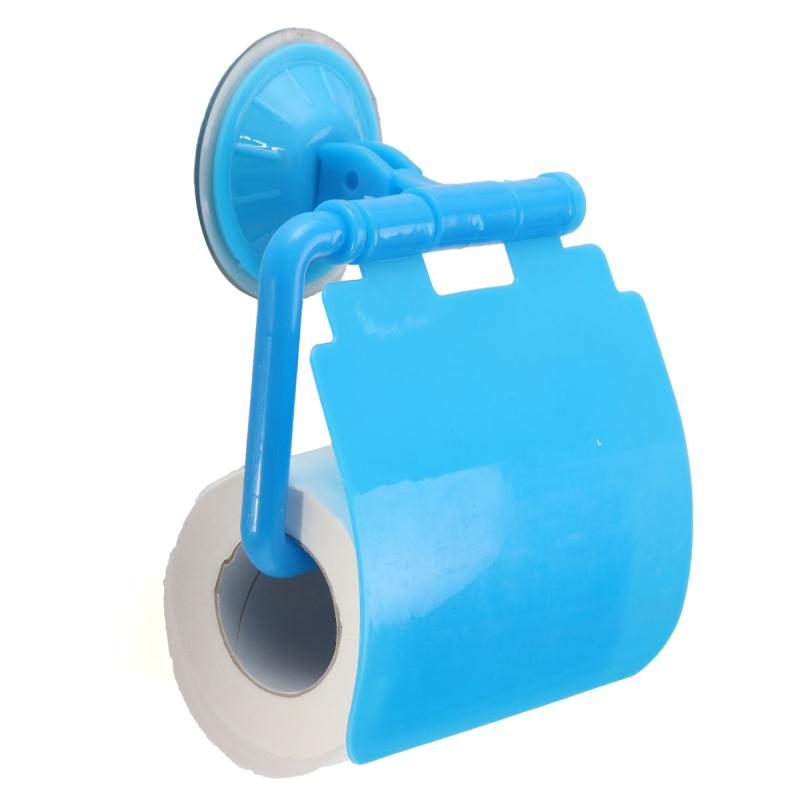 fashion creative wall mounted toilet paper holders bathroom sucker tissue box 4 color cover roll tissue box storage accessory