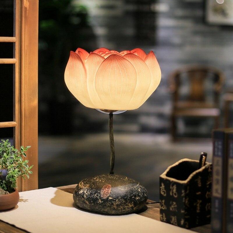 Современные новые творческие Настольные лампы в китайском стиле гостиная лампа настольная исследования спальня ночники искусство украшен...