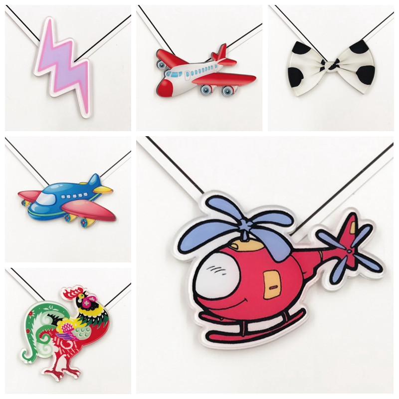 Fine Cartoon Aircraft Set Helicopter Lightning Bow Brooch Animal cock Badge Decoration wholesale Children's clothing accessories
