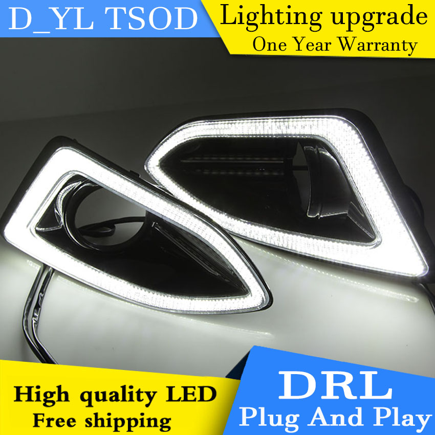 Car styling For Ford Edge 15 LED DRL For Ford Edge led fog lamps daytime running