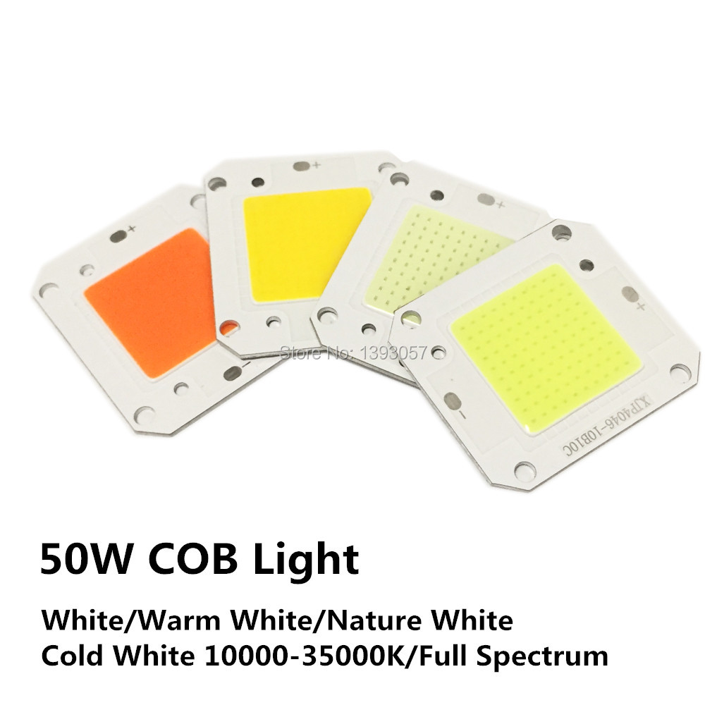 5pcs 50W High Power <font><b>LED</b></font> COB Chip Lights DC12V DC32V Light Source 400nm-840nm Full Spectrum Warm White Cold White 3000K-<font><b>30000K</b></font> image