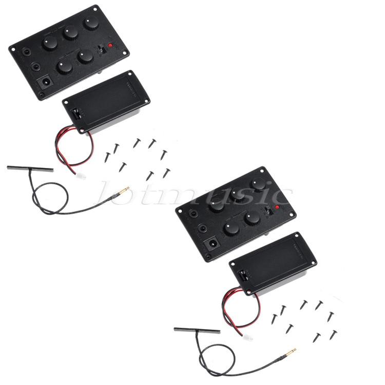 2 pcs nouveau câble piézo-électrique système de ramassage EQ 2 bandes pour pièces de violon
