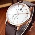 Часы Мужчины Водонепроницаемый 30 М Натуральная Кожа Мода Кварцевые Часы Мужские Часы Лучший Бренд Роскошные Часы Relogio Masculino