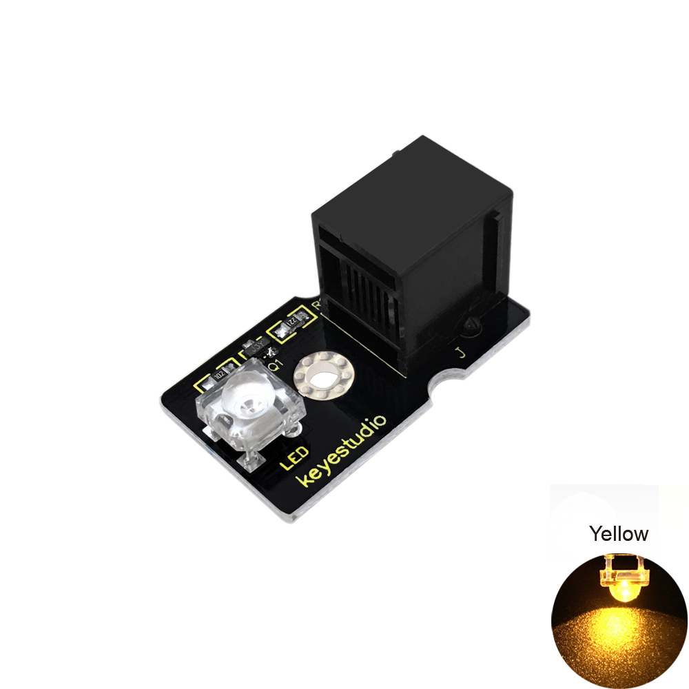 Keyestudio EASY plug Yellow Piranha LED Module for Arduino