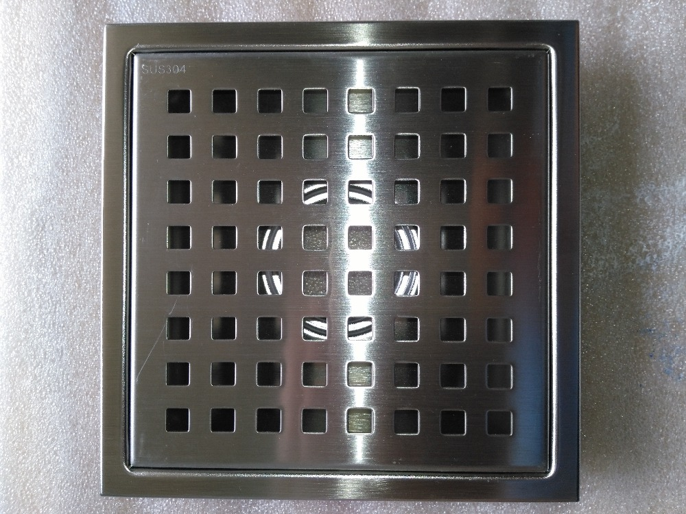Delightful New 64 Hole Large Flow Shower Drains 150*150mm 304 Stainless Steel Floor Drain  Shower Room Floor Drain,Brushed Nickel In Drains From Home Improvement On  ...