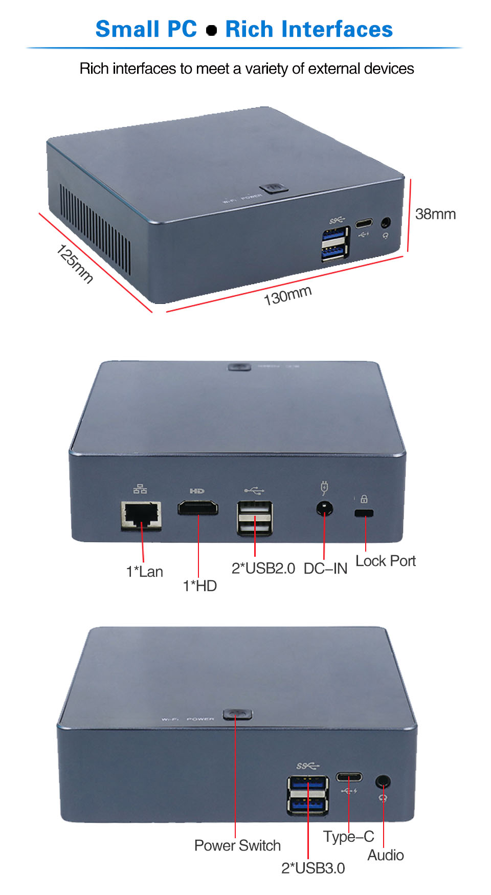 Mini PC 4K 19