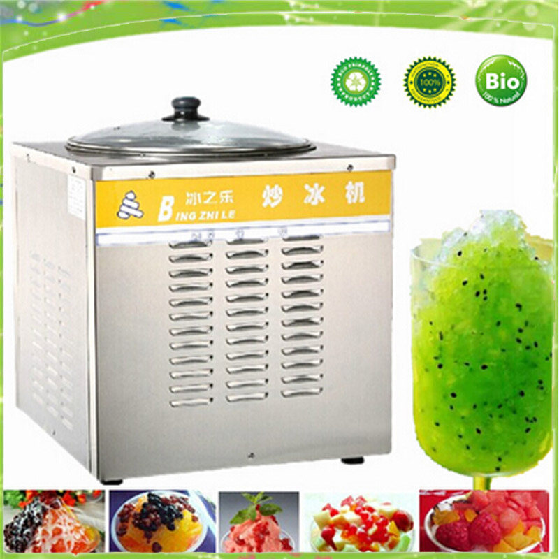 single pan fry ice cream machine fried ice roll pan machine flat pan rolled fried ice machine ice cream rolls machine free shipping big pan 50cm round pan roll machine automatic fried ice cream rolling rolled machine frying soft ice cream make