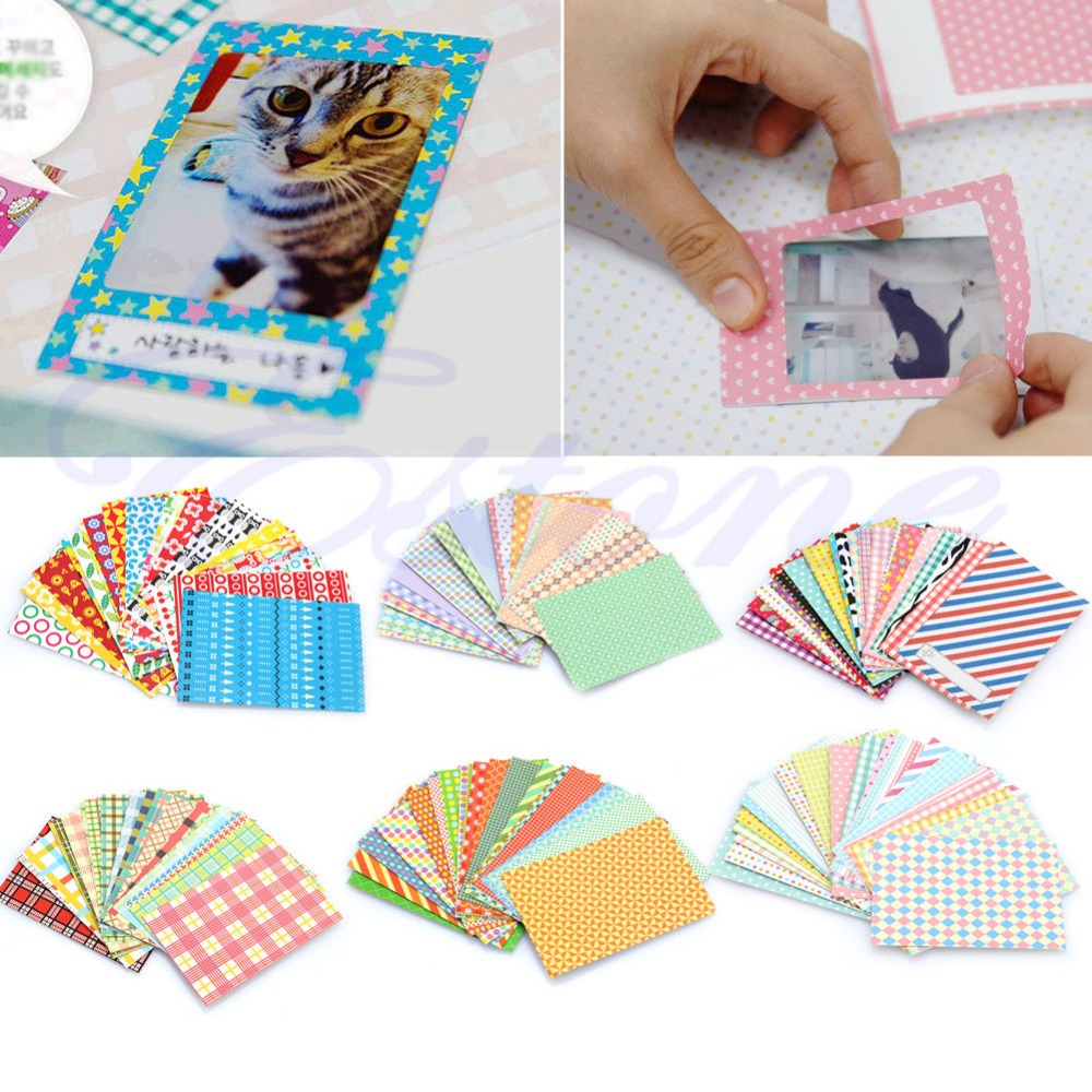 20Pcs Polaroid Camera Film Skin Masking Photo Sticker FujiFilm Instax Mini Decor Dropshipping