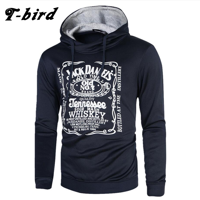 T-bird Hip hop Sweatshirt Mens Cotton pullover male hoody
