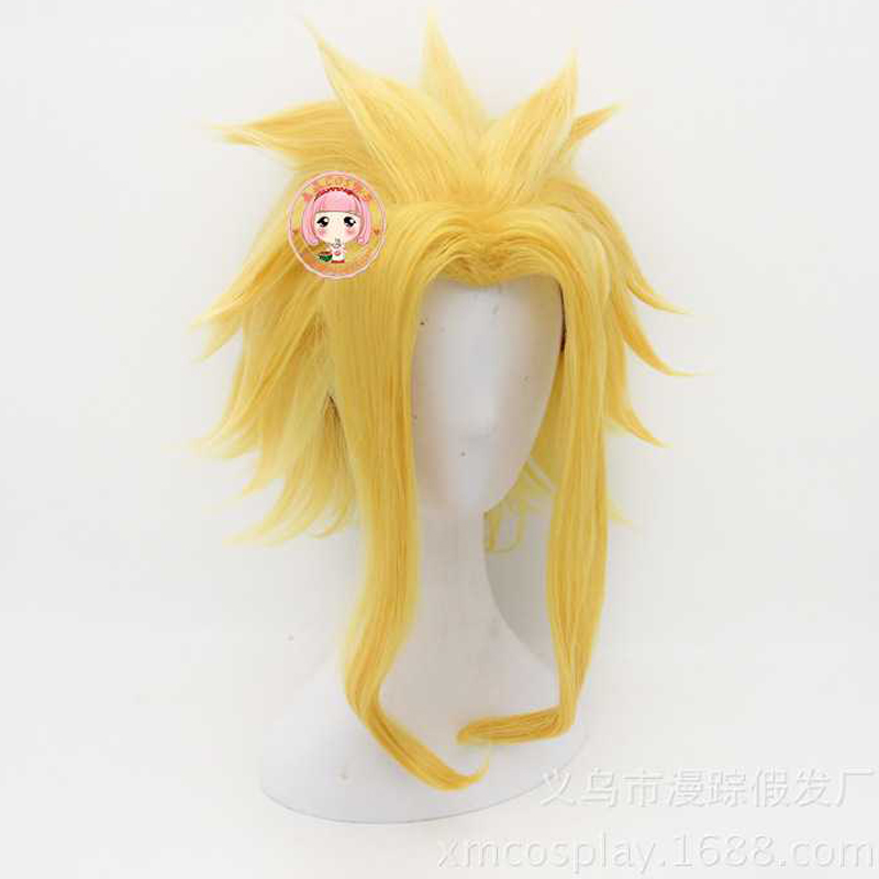 Anime My Hero Academia All Might Yagi Toshinori Boku no Hero Academia Wig Cosplay Yellow Wig Role Play+wig cap