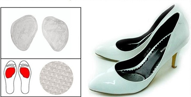 5 Pair/Lot Silicone Gel Cushion Insoles Anti-Slip Shoe Pads Wholesale Free Shipping
