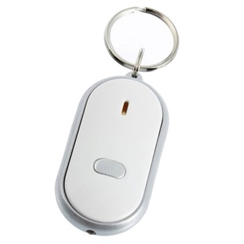 Whistle LED Light Torch Remote Sound Control Lost Key Finder Locator Remote Keychain Keyring With Whistle Claps
