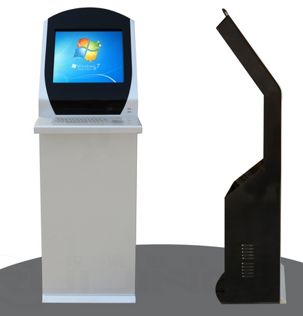 19 Inch Self Service Card Attendance Terminal With Keyboard Hospital Bank Queuing Uc Id Card Reader Kiosk