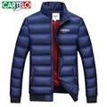 Cartelo marca 2016 slim down coats moda inverno homens jaqueta napapijri dos homens quentes casual casacos grossos parkas casaco de algodão masculina