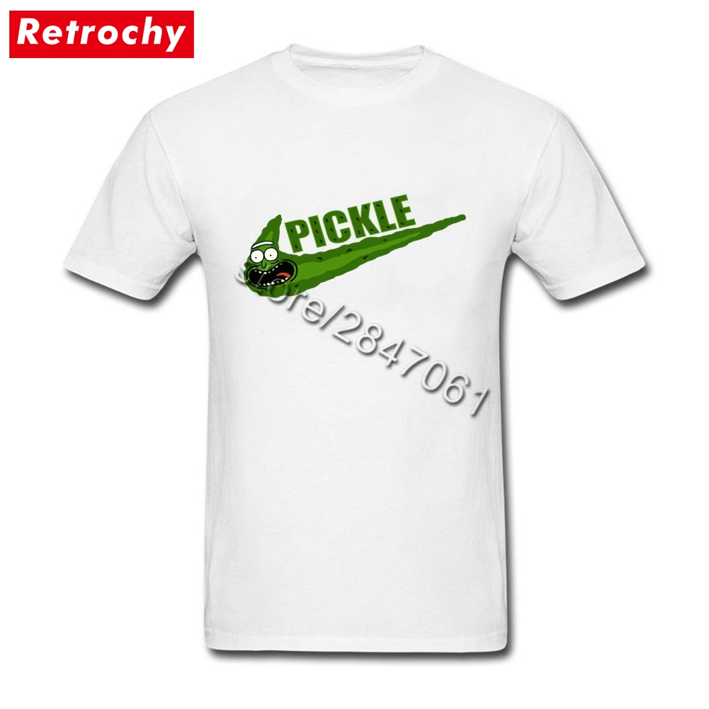 2017 Streetwear Tees Shirts Funny Pickle Rick and Morty T-Shirt Men Short Sleeve Personalized Guy Extra Large Merchandise