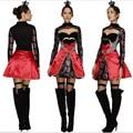 2016new высокое качество Королева червей костюм Алиса В Стране Чудес Косплей Платье Покер Королева одежда Хэллоуин Костюмы Для Женщин