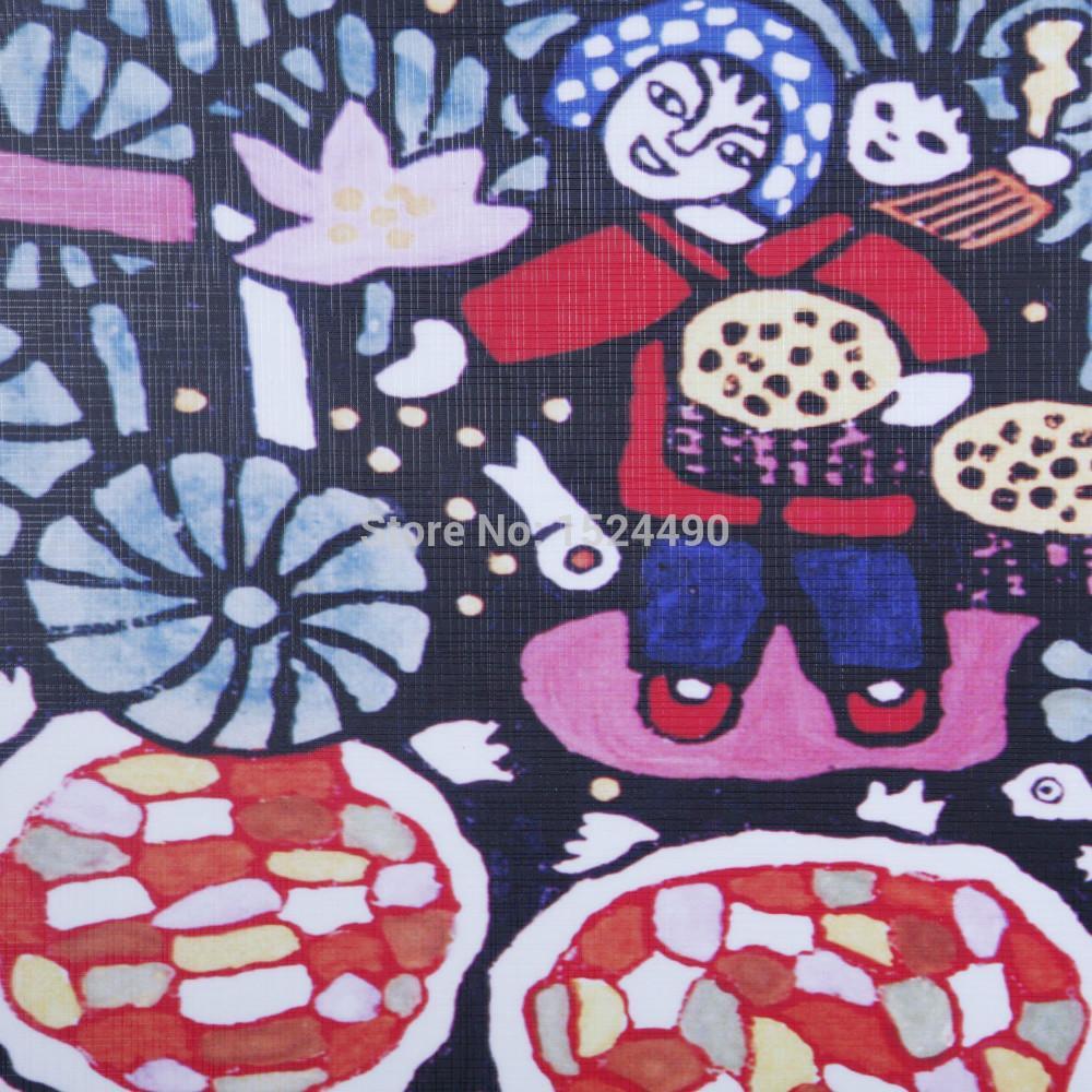 Mão feita abstrata estilo chinês pintura a óleo picking lotus casa escritório decoração do hotel pintura da lona imagem frete grátis - 2
