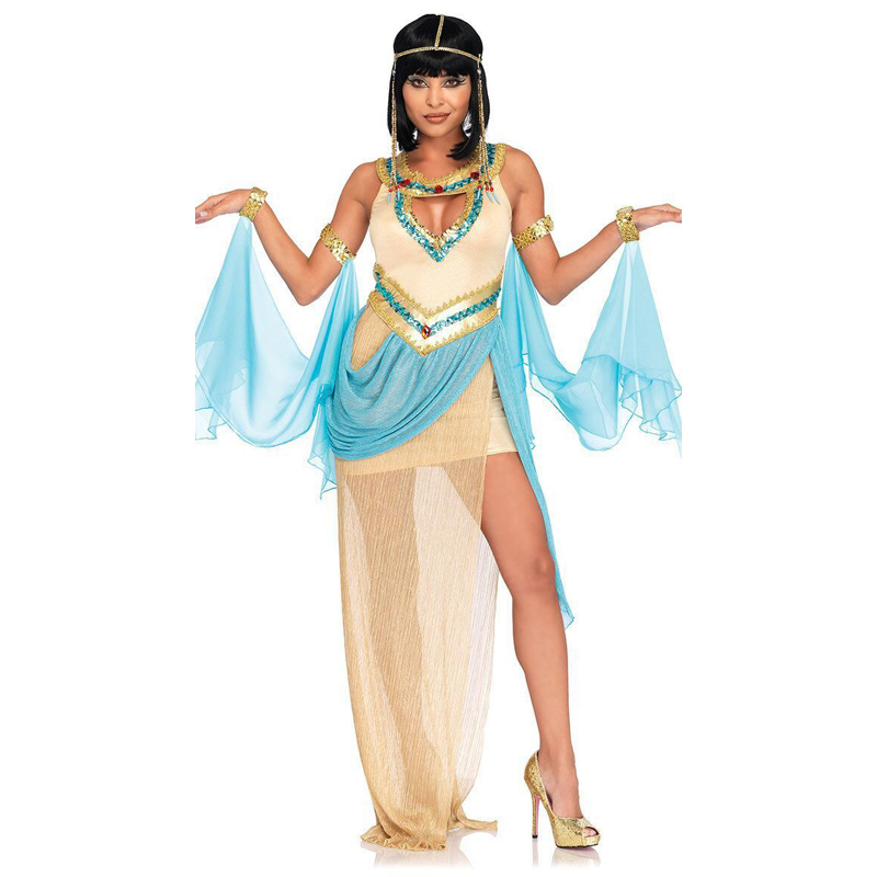 Adult Ladies Egyptian Queen Cleopatra Costume Sexy Greek Roman Princess Rome Cosplay Party Fancy Dress