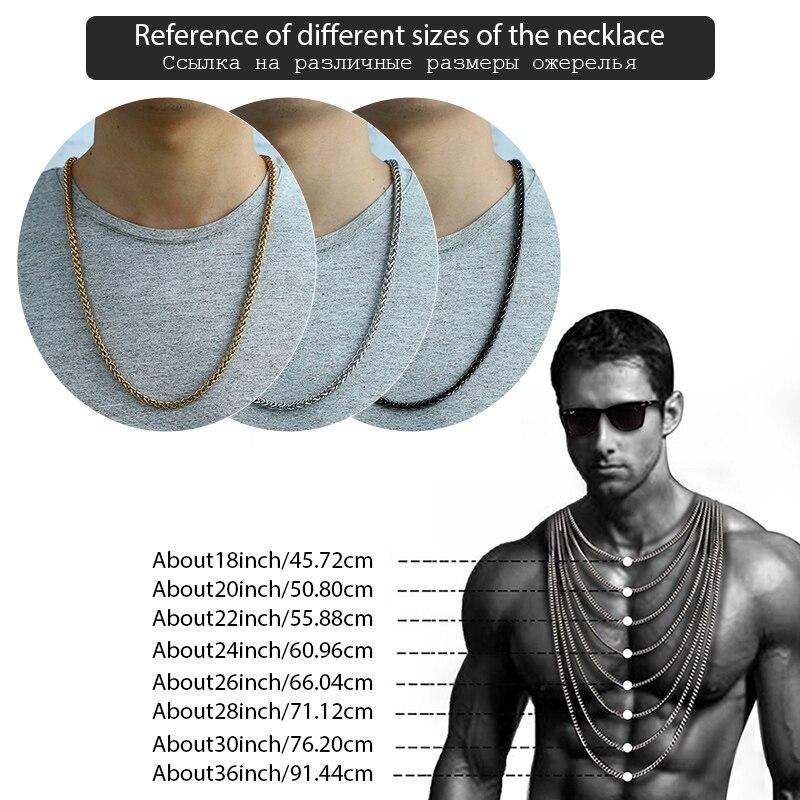 Personalizate colier din oțel inoxidabil 3-10 mm din oțel - Bijuterii de moda - Fotografie 6