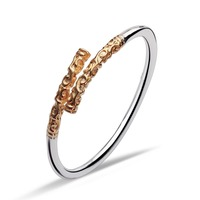 HERMOSA Jewelry Sun Wukong Gold Hoop Bar Kung Fu Style Stamp Plating Gold 925 Silver Wholesale