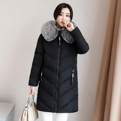 eb7c0f2e1edd6 Plus Size 6XL 2018 Winter Cotton Coat Women s New Down Cotton Long Section Big  Fur Collar Thick Warm Female Cotton Jacket 513-in Parkas from Women s ...