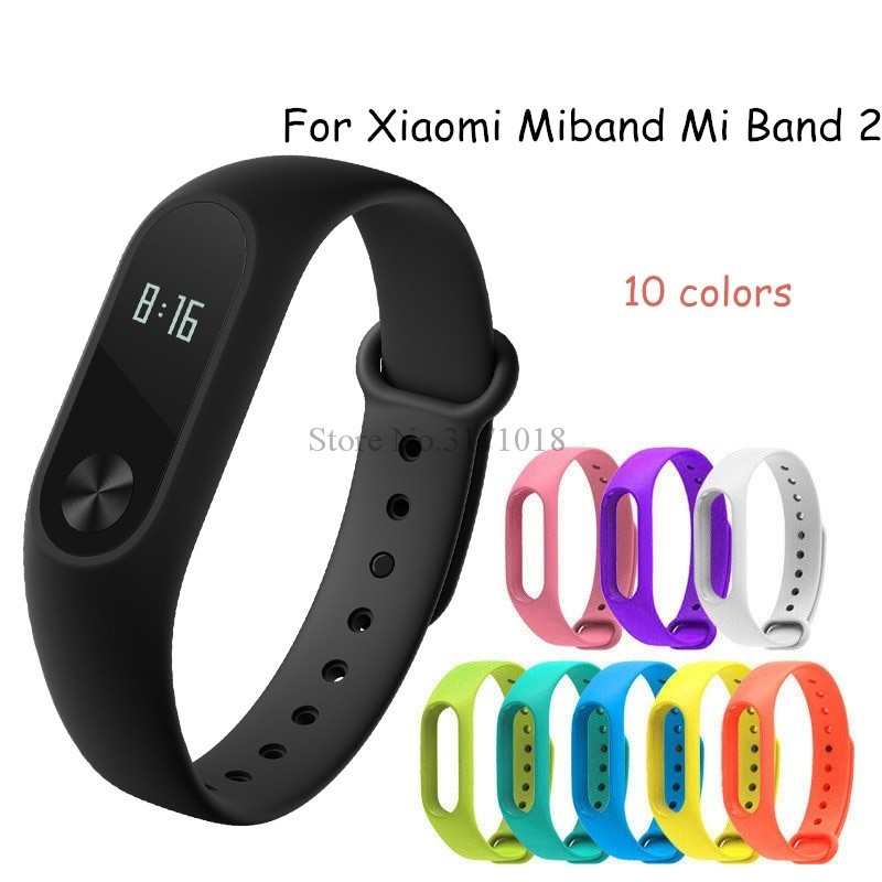 Colorful Silicone Wrist Strap Bracelet Replacement Watchband for Miband 2 For Xiaomi Mi band 2 band2 Wristbands 10 Colors