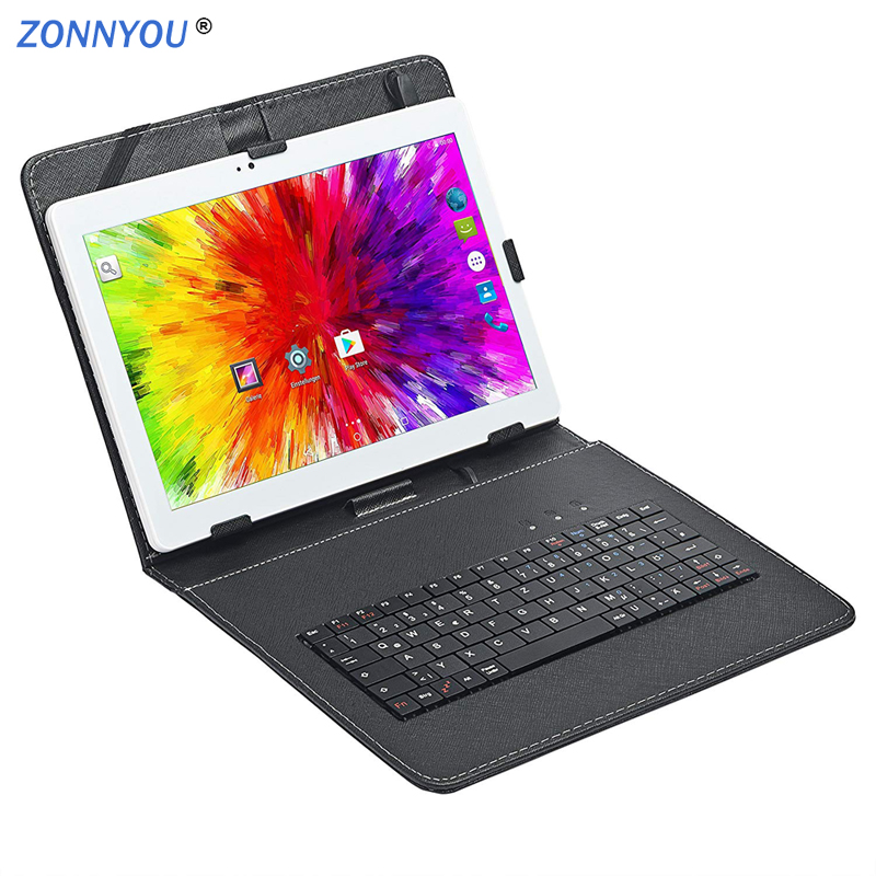 10.1 Inch Tablet PC Android 8.0 3G-Call Phone Call Tab Octa Core 4GB RAM 32GB ROM IPS Dual SIM  Phone PC Tablets+Keyboard