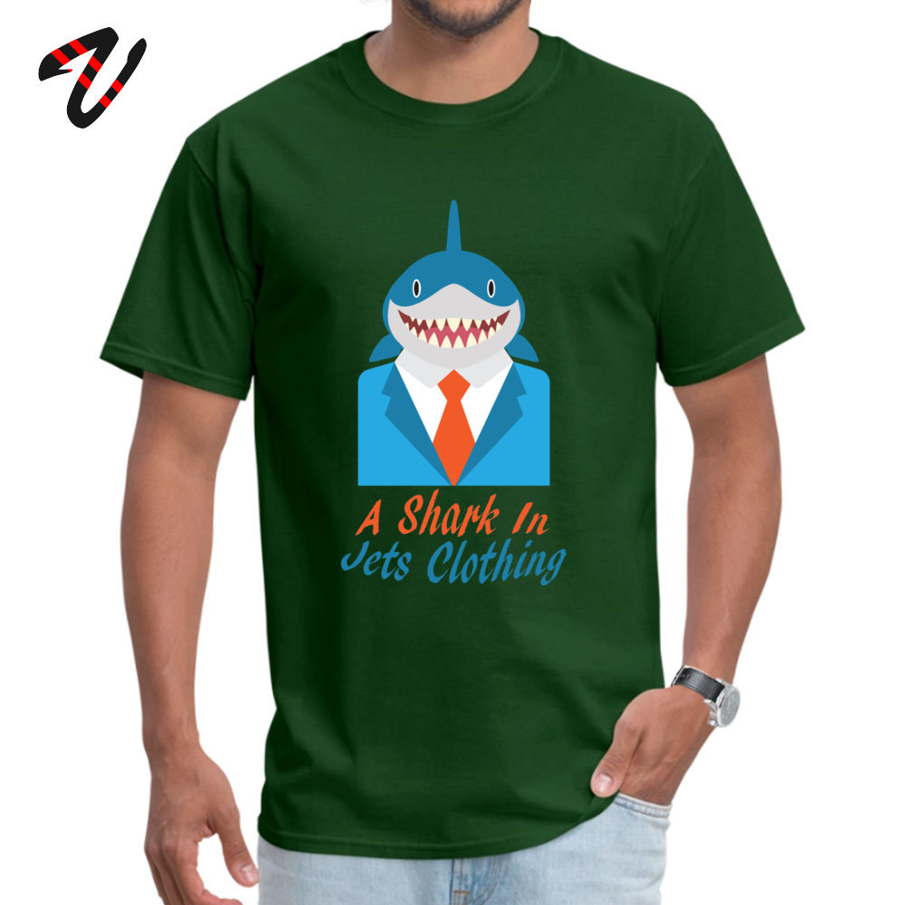 cosie Normal Short Sleeve Tops Shirt Summer O-Neck 100% Cotton Fabric Mens Top T-shirts Normal T Shirt Brand New A Shark In Jets Clothing 2375 dark