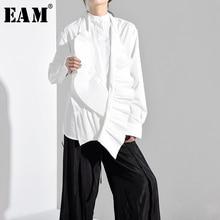 plisowana [EAM] bluzka moda