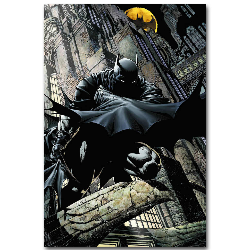 Batman Superhero Comic Art Silk Fabric Poster Print 13x20 24x36inch Anime Picture for Room Wall Decoration 022