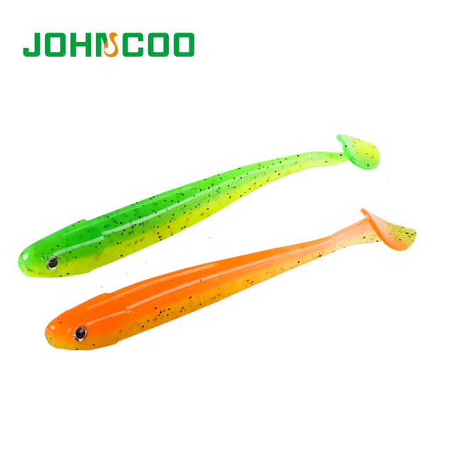 JOHNCOO Fishing Lures Artificial Bait for Fishing 75mm/105mm/125mm Jig Head Fishing Lure for Bass Fishing Wobblers 3