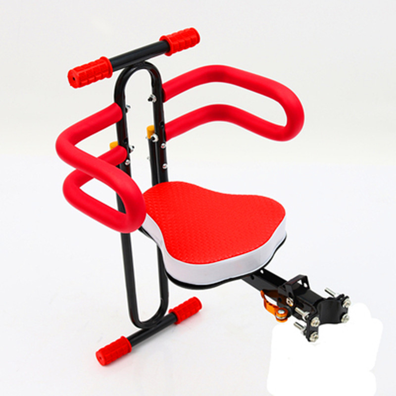 Electric bicycle front quick detachable folding child seat bicycle mountain bike front child safety seatElectric bicycle front quick detachable folding child seat bicycle mountain bike front child safety seat