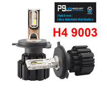 1 Set H4 HB2 9003 100W 13600LM P9 LED Headlight 2 5MM Ultra Thin No Blind