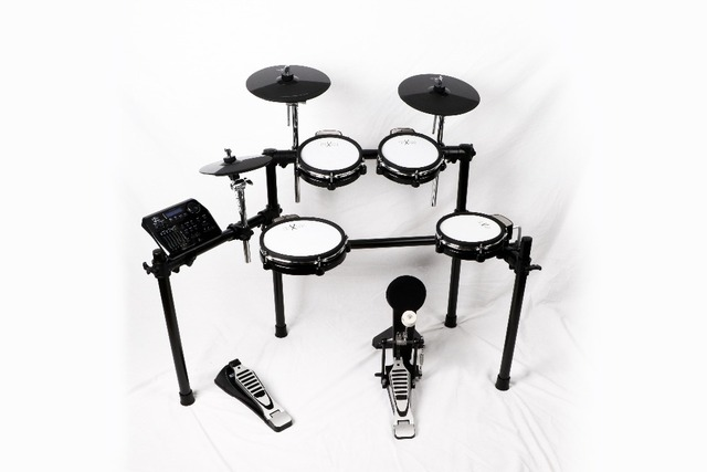 HXM HD450 Mesh Head Electronic drum Set Kit Percussion with     HXM HD450 Mesh Head Electronic drum Set Kit Percussion with Bluetooth