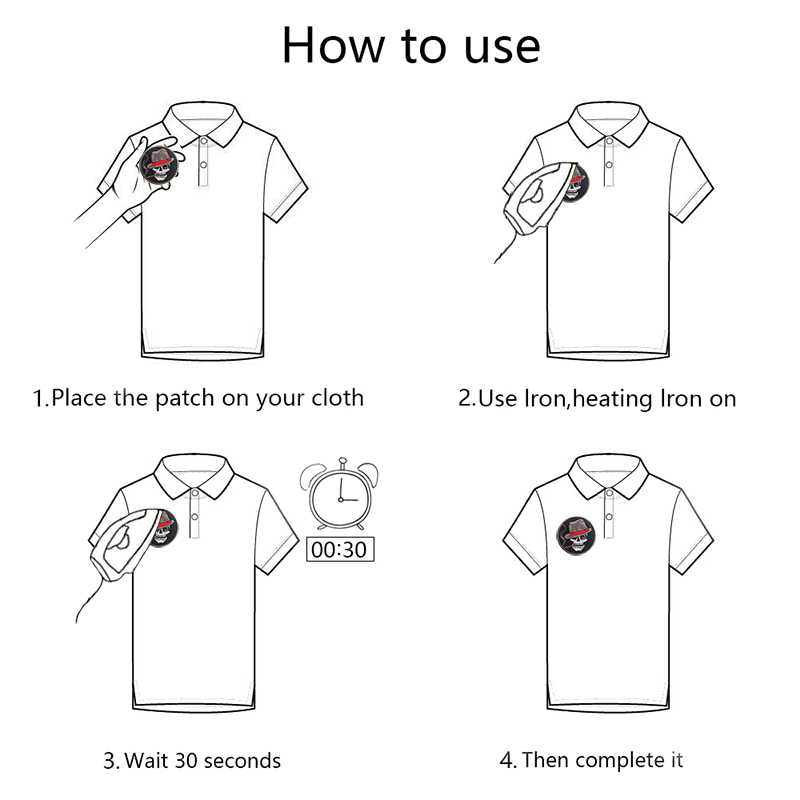 PGY 펑크 천사 날개 바이커 락 패치 티셔츠 코트에 대한 의류 Appliques Diy 수 놓은 배지 액세서리