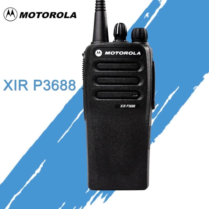 band digital Motorola XIR P3688 digital / analog walkie talkie dual-band waterproof and dustproof high power handheld portable transceiver (1)