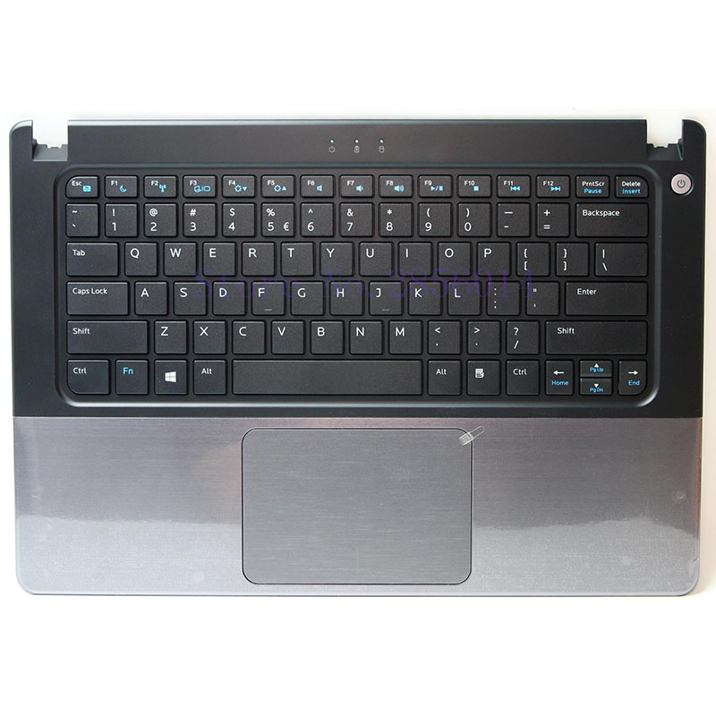 Brand Palmrest topcase for DELL vostro V5460 5460 5470 V5480 US Keyboard Upper cover Touchpad without fingerprint button blue сарафан button blue для девочки