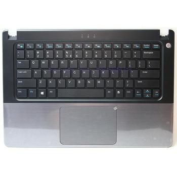 Brand Palmrest topcase for DELL vostro V5460 5460 5470 V5480 US Keyboard Upper cover Touchpad without fingerprint