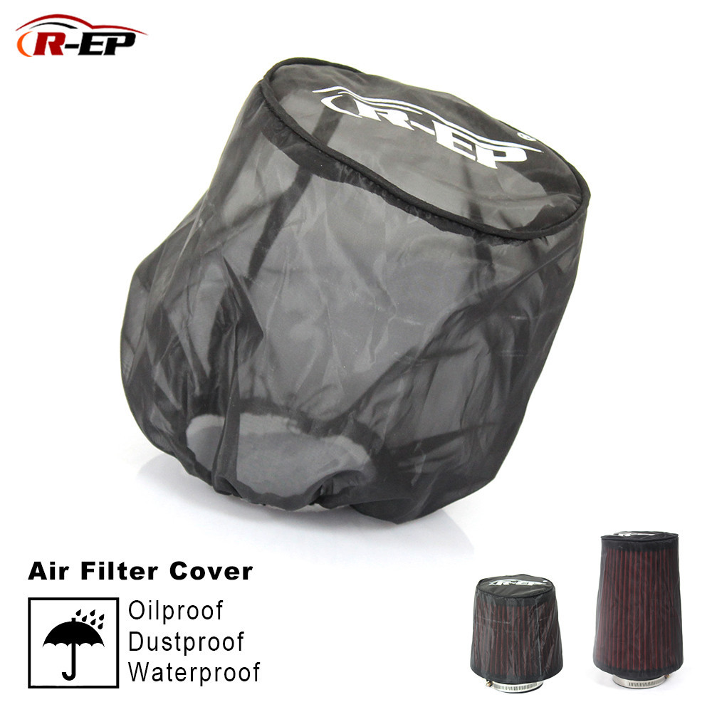 2019 Universal Air Filter Protective Cover Waterproof Oilproof Dustproof For High Flow Air Intake Filters Black Car Accessories