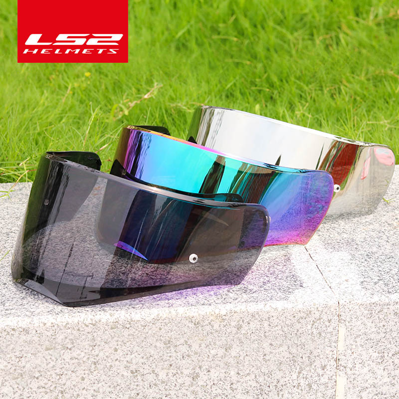 LS2 FF390 Breaker Chrome-plated Helmet Lens Silver Colorful Smoke Rainbow Visor Only For LS2 FF390 With Anti-fog Pinlock Holes