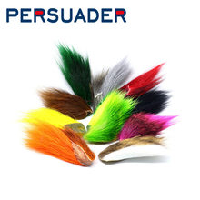 PERSUADER 1pcs bucktail capelli pezzo sezione streamer bass Jigs fly tying materiali 10 colori northen cervo coda esche artificiali(China)