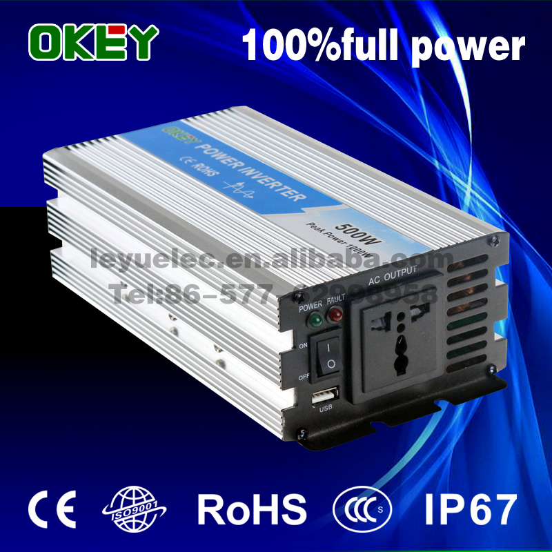 Chinese factory OPIP-500 DC AC 12V to 110V/220V Pure sine wave single output power inverter solar system maylar 22 60vdc 300w dc to ac solar grid tie power inverter output 90 260vac 50hz 60hz