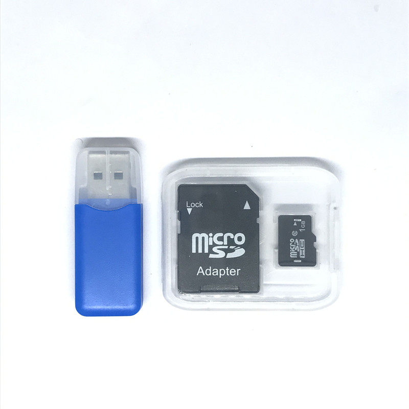 New!!! 1GB Micro SD Card memory card 1GB With Card Adapter  + free tf card reader