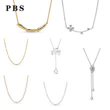 PBS 100%925 Sterling Silver Original Copy High-quality 1:1 2019 Latest Spring New Butterfly Necklace Logo Free Shipping(China)