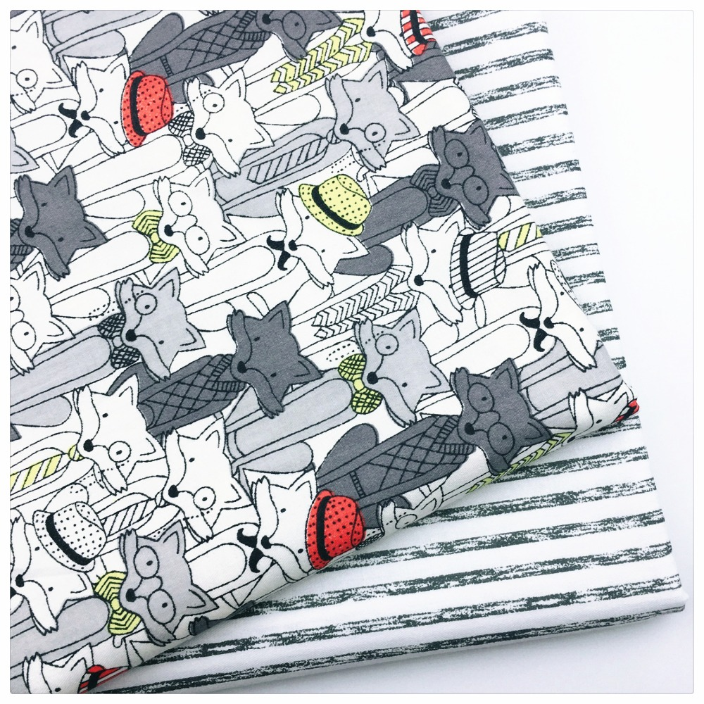 New cotton fabric patchwork cartoon tissue cloth of for Children s character fabric