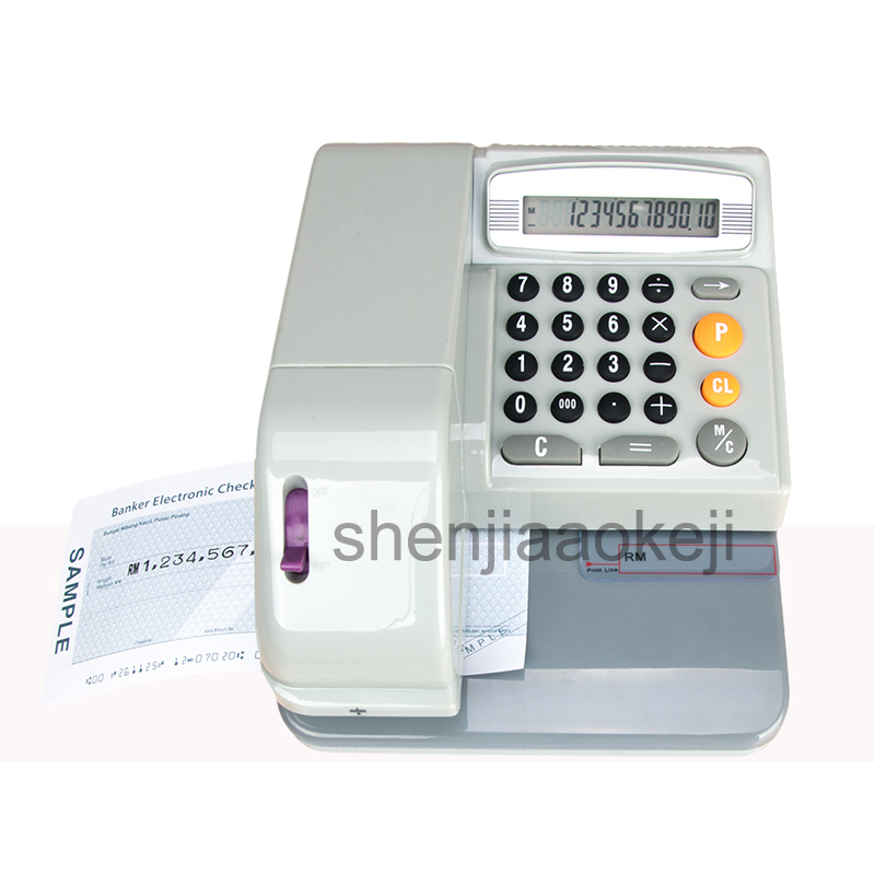 Automatic Checking Machine English Cheque Printer Hong Kong Malaysia Singapore UK Plug DY-230 Checks Printer 110-220V 1pc 2017 low price new machine free shipping singapore by malaysia 720mm