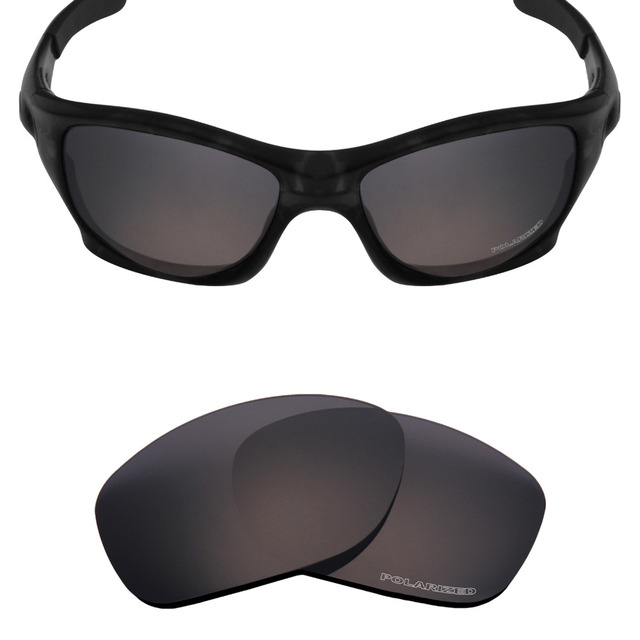 a1a56109a8759 Mryok+ POLARIZED Resist SeaWater Replacement Lenses for Oakley Pit Bull Sunglasses  Stealth Black